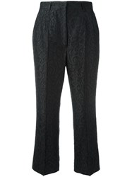 Dolce And Gabbana Jacquard Cropped Trousers Black