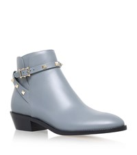 Valentino Rockstud Ankle Boots 35 Female Light Grey