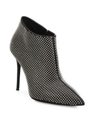 Giuseppe Zanotti Studded Patent Leather Point Toe Booties Black