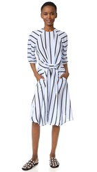 Preen Gracie Dress Powder Blue Breton