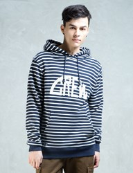 Crew By Subcrew Horizontal Striped Sweater Hoodie