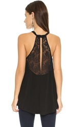 Cupcakes And Cashmere Flynn Halter Top Black