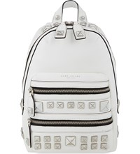 Marc Jacobs Recruit Chipp Stud Leather Backpack Star White