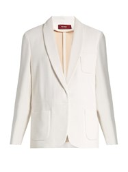 Sies Marjan Single Breasted Double Crepe Blazer White