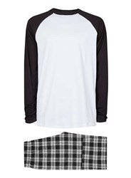 Topman Black And White Check Pyjama Set