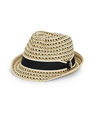 Tommy Bahama Woven Striped Fedora Natural