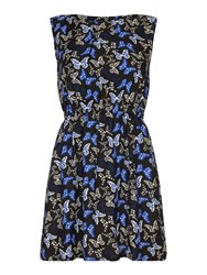 Mela Loves London Butterfly Print Dress Black
