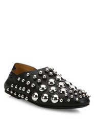 Alexander Wang Edie Studded Leather Flats Black