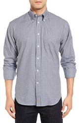 Thomas Dean Men's Big And Tall Classic Fit Gingham Sport Shirt Blue