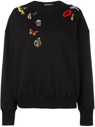 Alexander Mcqueen 'Obsession' Charms Sweatshirt Black