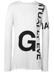 Barbara I Gongini Printed Longsleeved T Shirt White