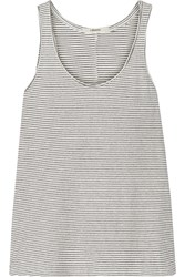 J Brand Rockwood Striped Cotton Blend Tank White
