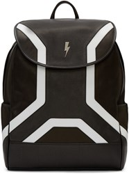 Neil Barrett Black Leather Backpack
