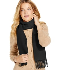 Charter Club Solid Woven Cashmere Muffler Only At Macy's Classic Black