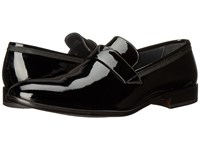 Bruno Magli Carlos Black Patent Grossgrain Men's Slip On Shoes
