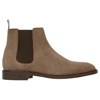 Reiss Tenor Suede Leather Chelsea Boots Taupe