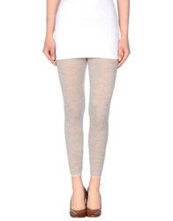 Manila Grace Trousers Leggings Women Light Grey