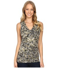 Royal Robbins Essential Floret Tank Top Jet Black Women's Sleeveless