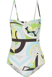 Emilio Pucci Printed Swimsuit Light Green
