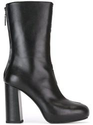 Msgm Metallic Pois Boots Black