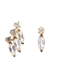 Loren Stewart Diamond Sapphire And Yellow Gold Earrings