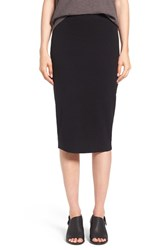 Eileen Fisher Women's Washable Wool Rib Tube Skirt Black