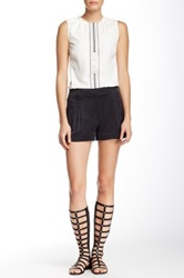 L.A.M.B. Pleated Silk Short Black