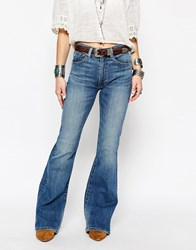 Denim And Supply Ralph Lauren Denim And Supply By Ralph Lauren Hi Waist Flare Jeans Blue