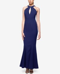 Fame And Partners Keyhole Neck Halter Dress