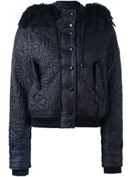 Just Cavalli Trim Detail Hooded Jacket Black