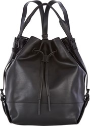 Opening Ceremony Izzy Convertible Backpack Black Black Blue