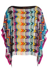 Missoni Mare Crochet Knit Tunic Top Multicolor