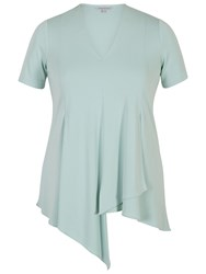 Chesca Asymmetric Layered Jersey Top Aqua