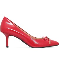 Michael Michael Kors Nancy Bow Detail Leather Courts Red Other