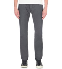 Hugo Boss Regular Fit Stretch Cotton Trousers Navy