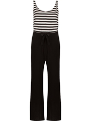Osklen Striped Jumpsuit Black