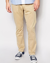 Esprit Trousers In Straight Fit Beige