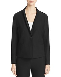 Eileen Fisher Petites Knit Blazer Black