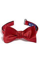Men's The Tie Bar Dobby Silk Bow Tie Red Online Only