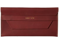 Obey Newbury Clutch Ii Oxblood Clutch Handbags Red