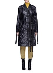 3.1 Phillip Lim Quilted Utility Long Kimono Jacket Black