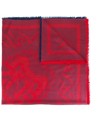 Kenzo 'Tiger' Scarf Red