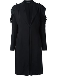 Yohji Yamamoto Vintage Cut Out Shoulder Coat Black
