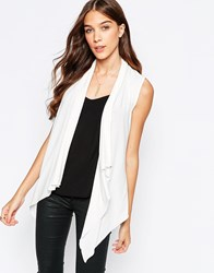 Mela Loves London Sleeveless Jacket Cream
