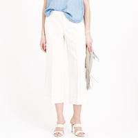 J.Crew Collection Cropped Linen Wide Leg Trouser