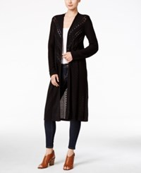 Styleandco. Style Co. Pointelle Knit Duster Cardigan Only At Macy's Deep Black