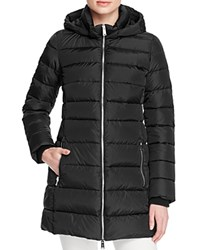 Add Down Long Puffer Coat Black