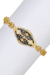 Freida Rothman 14K Gold Plated Sterling Silver Cz Maltese Marquise Bracelet Metallic