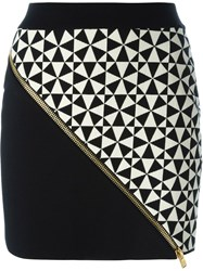 Fausto Puglisi Intarsia Knit Mini Skirt Black