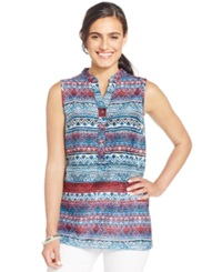 Style And Co. Tribal Print Blouse